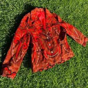 Vintage Corduroy BOHO Paisley Madness Blazer